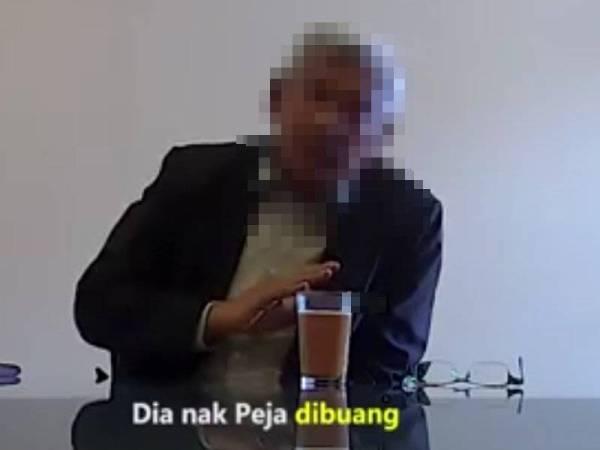 Tangkap layar perbualan di dalam video membabitkan individu mirip Exco Perak yang tular hari ini.