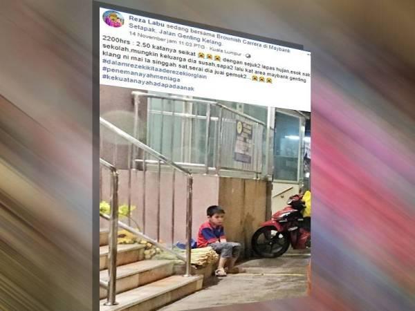 Perkongsian Reza di Facebook kini tular di media sosial yang meraih 2,000 tanda suka dan 7,300 warganet berkongsi kisah kanak-kanak tersebut.