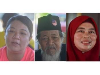 (Dari kiri) Koh Fui Voon, Ibrahim Bahari dan Zuraida Ahmad. - FOTO SHARIFUDIN ABDUL RAHIM
