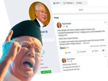 Najib mendakwa kononnya DAP mahu bertindak untuk mengkambinghitamkan Dr Mahathir sebagai berikutan kekalahan PRK Parlimen Tanjung Piai.