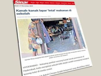 Laporan Sinar Harian 11 November lalu.