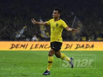 Safawi menjaringkan dua gol untuk skuad negara malam ini.
