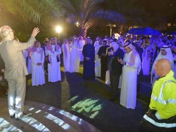 Inzerillo ketika pertemuan bersama 60 eksekutif pelaburan di Arab Saudi.