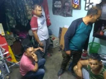 Beberapa individu individu ditahan Ops Cegah dilakukan sepasukan anggota Unit Penguatkuasaan AADK Daerah Kuala Muda Sungai Petani dekat sini kelmarin.