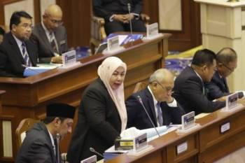 Shahaniza di sidang Dewan Undangan Negeri (DUN) Pahang di Wisma Sri Pahang di sini hari ini.