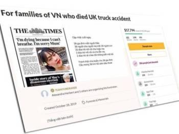 Halaman GoFundMe berjaya mengumpulkan dana lebih RM70,813.