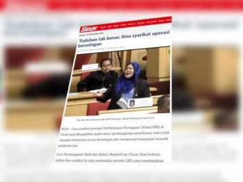 Laporan Sinar Harian 20 November lalu.