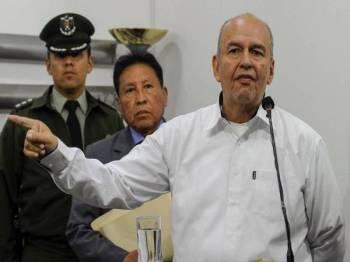 Murillo mendakwa Morales bagi kesalahan berkaitan hasutan dan keganasan. - Foto AFP