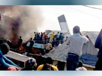 Angka korban akibat nahas pesawat berhampiran Lapangan Terbang Goma di timur Congo meningkat kepada 29 orang