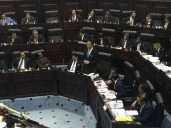 Kok Seong ketika menjawab soalan tambahan pada Sidang Ketiga (Belanjawan) Penggal Kedua Dewan Undangan Negeri (DUN) Negeri Sembilan di sini hari ini.