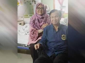 Mohd Anuar dibenarkan keluar dari HKL hari ini ditemani isterinya,Datin Azizah Che Mat