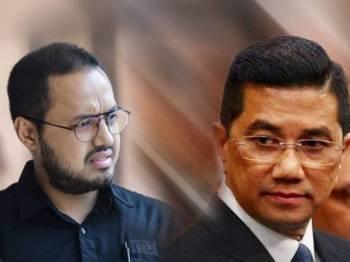 Gambar kiri: Farhash Wafa Salvador Rizal Mubarak, gambar kanan: Mohamed Azmin Ali