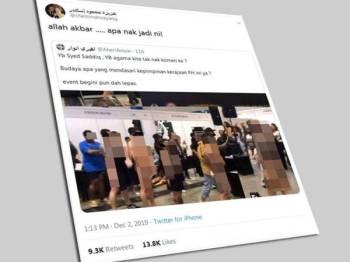 Ciapan Tunku Azizah mendapat perhatian pengguna Twitter dengan 7,000 pengikut mengulang kicau manakala lebih 7,000 pengikut menurunkan tanda 'like'.