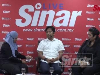 Program Sinar Live bertajuk Dua kem PKR semakin bergolak? di Komplek Kumpulan Media Karangkraf di sini hari ini.
