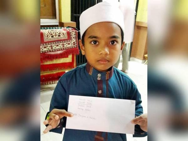 Kanak-kanak bernama Nadzrul Zarfan Sharul Azly itu berani meluahkan isi hatinya kepada pengerusi surau dah ahli jawatankuasa (AJK), namun tidak dinyatakan lokasinya.