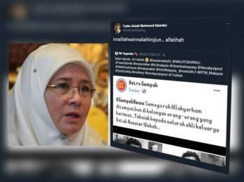 Paparan Twitter Tunku Azizah Aminah Maimunah Iskandariah.