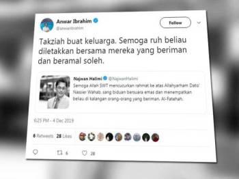 Paparan Twitter Anwar.