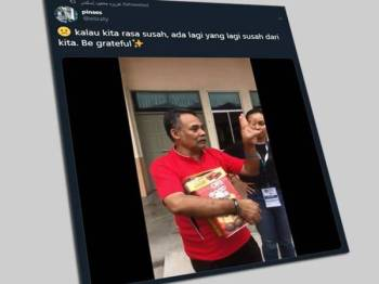 Paparan Twitter Nursyafika tular di laman sosial.