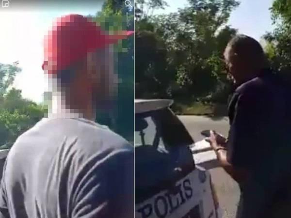 Pemandu lori ditahan selepas didapati melakukan provokasi dan menuduh polis meminta wang ketika pemeriksaan di Jalan Lahat kelmarin. (Anggota polis menahan sebuah lori yang didapati membawa rangka kereta dalam keadaan mencurigakan.)