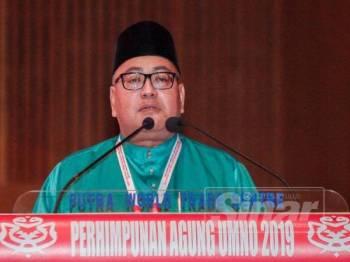 Wakil Negeri Sembilan, Tuan Mohd Faizal Ramli bercakap pada Perhimpunan Agung Umno 2019-Perbahasan di PWTC,Kuala Lumpur.- Foto Sinar Harian ZAHID IZZANI