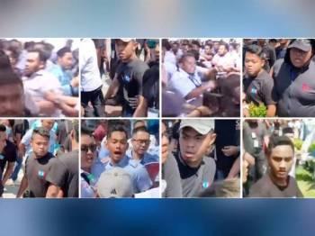 Polis hari ini mengedar gambar lapan individu untuk tampil membantu siasatan kes kekecohan pada Kongres Nasional AMK 2019 di sini semalam.