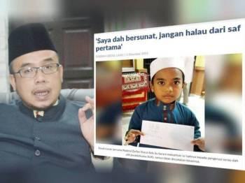 Sebelum ini tular sepucuk surat dari seorang kanak-kanak di media sosial yang meluahkan rasa kesalnya kerana dihalau ke saf belakang ketika solat di sebuah surau. Gambar kiri: Mufti Perlis, Datuk Dr Mohd Asri Zainul Abidin