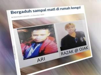 Semalam, tiga lelaki warga Indonesia maut dalam pergaduhan yang berlaku di sebuah rumah kongsi di ladang itu dan ditemui terbaring berlumuran darah di dalam sebuah bilik tidur dalam kejadian kira-kira pukul 12.05 tengah malam.