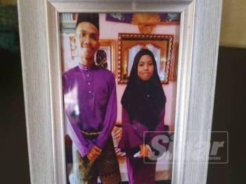 Nurul Elyana Shamimi bersama abang sulungnya sebelum terlibat kemalangan.