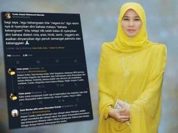 Paparan Twitter baginda yang mendapat perhatian netizen.
