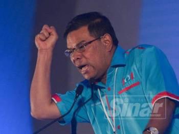 Saifuddin Nasution semasa ucapan penggulungan pada Kongres Nasional PKR di Pusat Dagangan Antarabangsa Melaka (MITC) Ayer Keroh hari ini. - Foto Sinar Harian SHARIFUDIN ABDUL RAHIM