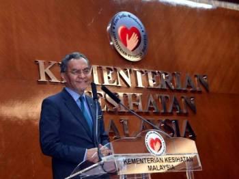 Dr Dzulkefly ketika menyampaikan ucapan pada Sambutan Hari Inovasi Kementerian Kesihatan hari ini.  - Foto Bernama