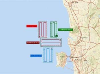 Operasi SAR hari ini diperluas meliputi empat bahagian.