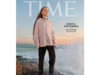 Greta Thunberg menghiasi muka depan majalah Time.