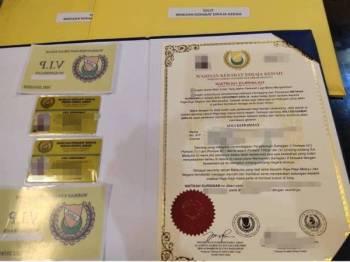 Tandatangan yang tertera di dokumen watikah berkenaan bukan tandatangan sebenar Sultan Kedah.