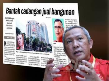 Laporan akhbar Sinar Harian pada 14 Disember. Gambar kecil: Mat Nadzari