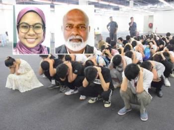 Sistem penguatkuasaan longgar dalam menerima kemasukan warga asing sebagai pelawat ke negara ini kemungkinan menjadi antara faktor Malaysia menjadi lubuk sindiket penipuan atau scammer. Gambar dari kiri: NADIAH SYARIANI, SHAHUL HAMID