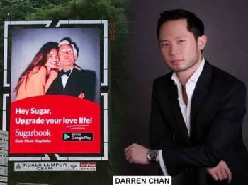 Papan iklan LED yang mengiklankan perkhidmatan Sugarbook tular di media sosial sejak semalam.