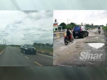 Laluan baharu yang sudah dibuka untuk kegunaan penduduk Kampung Lombong sejak semalam.