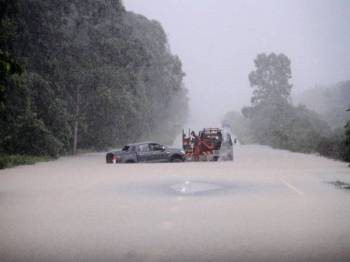 Beberapa kawasan di daerah Mersing dan Kota Tinggi dijangka terjejas akibat banjir sekiranya air pasang berlaku pada 25, 26 dan 27 Disember ini. - Foto Bernama