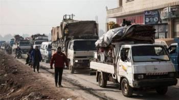 Puluhan ribu pelarian Syria melarikan diri dari wilayah Idlib ke sempadan Ankara pada akhir minggu lalu.