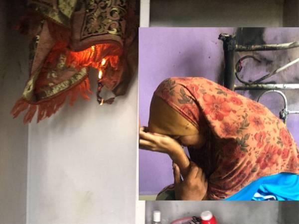 Sejadah yang beralih kedudukan dari atas katil ke dalam almari besi tiba-tiba terbakar. Wan Nor Fatihah yang tertekan dan menangis berdepan misteri menyelubungi keluarganya.