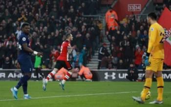 Gol Ings memastikan The Saints meraih tiga mata selepas menewaskan Tottenham di Stadium St Mary's. Foto: Premier League
