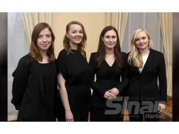 DARI KIRI: Anderson, Kulmuni, Marin dan Ohisal merupakan antara wanita muda yang kini memegang portfolio penting dalam barisan kabinet negara Finland.