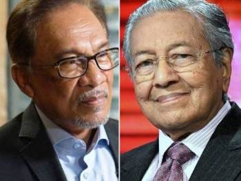 Anwar Ibrahim dan Dr Mahathir Mohamad