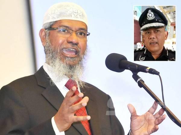 Dr Zakir Naik. - Foto Rosli Talib Gambar kecil: Mohd Said