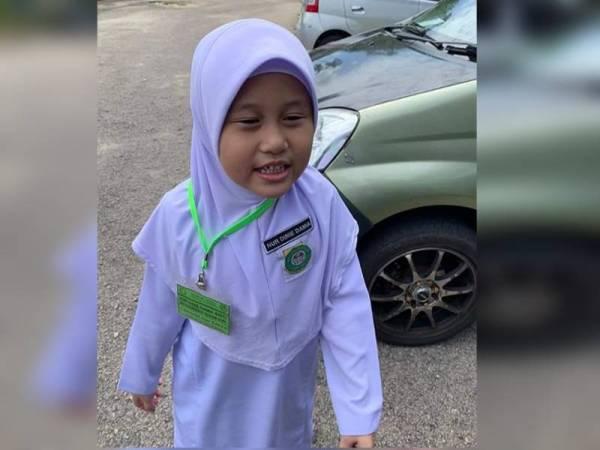 Nur Dinie Damia - Foto Facebook Media Johor