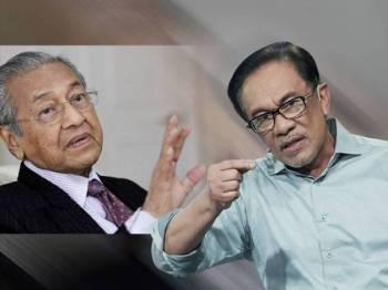 Dr Mahathir Mohamad dan Anwar Ibrahim