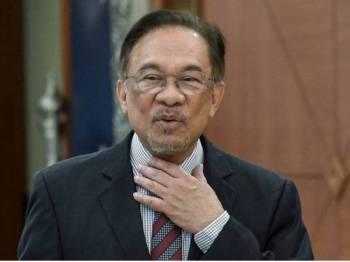 Anwar Ibrahim. -fotoBERNAMA