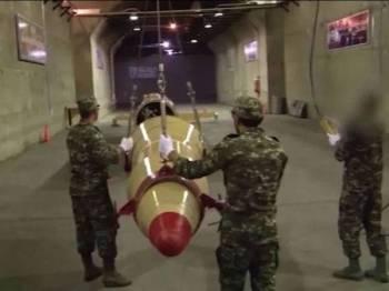 Ratusan peluru berpandu Iran disimpan di bawah lima lapisan konkrit.