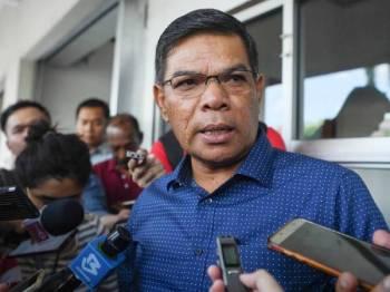 Saifuddin ditemubual media selepas Mesyuarat Majlis Pimpinan Pusat PKR di Ibu Pejabat PKR hari ini. - Foto Bernama